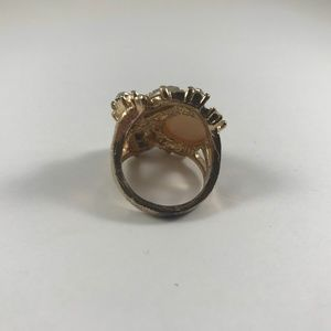 Vintage Jewelry - Vintage Gold Tone Ring, Vintage Jewelry, Size 8.5